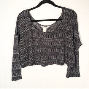 American Rag Cie Crop Top Long Sleeve Size LG